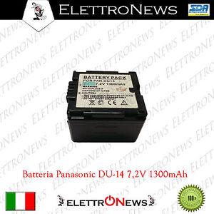 Batteria per Panasonic Mod. DU14 7,2V - 1300mAh
