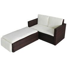 POLY RATTAN Lounge braun Sofa Garnitur Garten Polyrattan Sitzgruppe Gartenmöbel