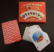 CARTE DA GIOCO KINDER PAT & STANLEY 2 Mazzi da 54 carte Gadget Nuovo