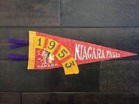 Vtg Niagara Falls Ontario Mini Pennant Felt Banner 1953 Canada Souvenir 1950's