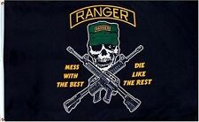 RANGER 3x5ft Flag Polyester united states mess with best gun