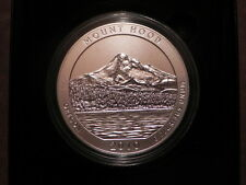 2010-P NP5 MOUNT HOOD AMERICA THE BEAUTIFUL 5oz SILVER COIN ( NO OUTER SLEEVE )