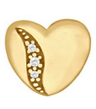 LOVELINKS BY PASTICHE  HEART LINK GOLD PLATED SILVER & CZ TT072CZG  MINT