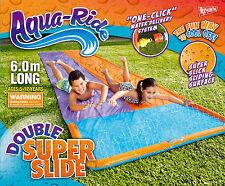 *NEW* Aqua Ride DOUBLE LANE Super Slick Sliding Surface Water Slide 6.0m Long