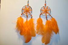 Peruvian Alpaca Silver & Delicate  Dreamcatcher Feather Earrings~E~uk seller~