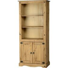 MEXICAN 2 DOOR BOOKCASE SOLID WOOD