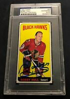 BOBBY HULL SIGNED TOPPS 1964 BLACKHAWKS CARD #20 PSA/DNA Autograph RARE SP