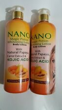 Nano magic portion whitening lotion 500ml wit papaya*Carrot&Kojic Acid.Original