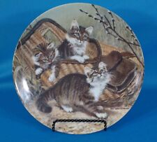 """Knowles """"Gone Fishing: Maine Coons"""" by Amy Brackenbury Plate"""