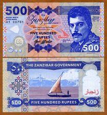Zanzibar (Tanzania), 500 Rupees, 2017, Private Issue, UNC > Freddie Mercury