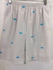 Kellys Kids Boys Girls Nautical Shorts Size 14-16 Embroidered Crabs Seersucker