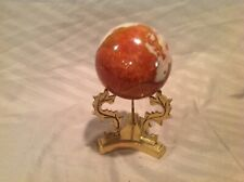 Vintage Marble Orb on Ornate Brass dragon stand