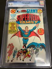 SUPER-TEAM FAMILY #1 * CGC 9.2 * (DC, 1975) WHITE PAGES!!  GIANT ISSUE!!