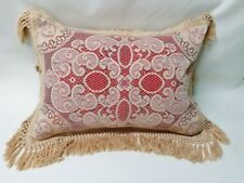 Victorian Style Natural Organic Brown Fringed Standard Pillow Sham