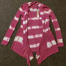 Belldini Pink/ White Reversible Tank Top & Cardigan Set Womens Size Small NWT