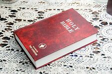 Real Bible Secret Book Safe w/ 8oz Steel Flask Hidden in Holy Bible