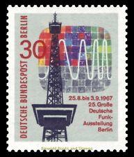 EBS West Berlin 1967 25th Great German Radio Exhibition Michel 309 MNH**