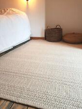 Medium size Beige soft 90x150cm Reversible rug. Modern Cotton Serengeti rug