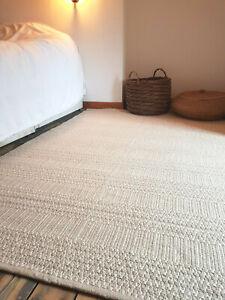 Scandi  Beige soft 90x150cm Reversible rug. Modern Cotton Serengeti rug