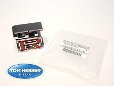 """JDM Nissan Skyline R34 GT-R """"GTR"""" Front Grille Emblem Badge Genuine OEM New"""