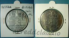 AUSTRIA OSTERREICH 10 EURO 2002 UNC CASTELLO EGGENBERG KEPLER ARGENTO SILVER