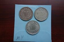 1934 1939 1940 India British 1/4 Rupee 3 coins lot