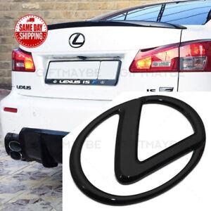 For Lexus Trunk Logo Badge Emblem Car Replace Gloss Black F-Sport ES GS IS RX