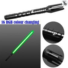 YDD Lightsaber Sword Colour Changing Heavy Dueling Black Hilt Force Cosplay USB