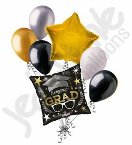 7 pc Congrats Grad Glasses Balloon Bouquet Happy Graduation Congratulations