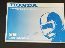 HONDA Motorcycle 1992 CBR 600 F2 OEM Factory OWNERS MANUAL, Rare, Brand New !
