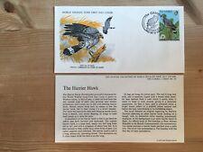 GAMBIA 1978 FDC WWF 097 BIRDS OF PREY HARRIER HAWK ABUKO NATURE RESERVE