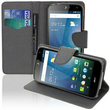 Cover Custodia NERO Portafoglio Effetto Tessuto Acer Liquid Z630/ Z630S