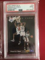 1992 Upper Deck Shaquille O'Neal PSA 9 #1b Rookie Trade Card