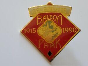 SAN DIEGO PADRES VINTAGE PIN LIMITED EDITION BADGE BALBOA PARK STADIUM 1915-1990