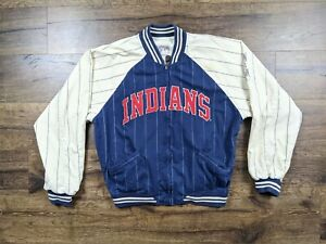 Vintage Mirage Cleveland Indians Cooperstown Collection Reversible Jacket Size L