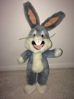 "Vintage 1993 Looney Tunes Bugs Bunny 14"" Stuffed Plush 24K Warner Bros."