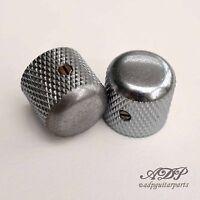 2xBoutons Gotoh Relic Chrome Aged Tele Dome Knobs 19x18,4mm SplShaft 6mm BigGrip