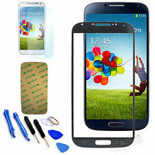 Black Replacement Screen Glass Lens Kit For Samsung Galaxy S4 SIV i9500+Tool QW