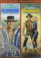 New  DOUBLE FEATURE DVD -  CROCODILE DUNDEE + CROCODILE DUNDEE 2 - PAUL HOGAN