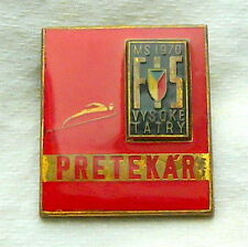 1970 FIS World Ski Championships COMPETITOR participant PIN BADGE Skiing