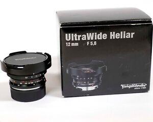 Voigtlander Ultra Wide Heliar 12mm f5.6 Aspherical II Leica M-mount