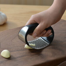 Stainless Steel Manual Garlic Press Crusher Squeezer Masher Mincer Kitchen Tool