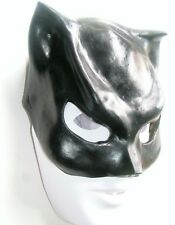 HALLOWEEN MASQUERADE ADULT SUPERHERO CAT WOMAN BLACK LATEX FUN MASK  NEW