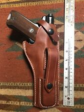 """Ruger Mark Mk I II III 22 Auto Cal Leather Holster w/ Magazine Pouch 5.5"""" USA Md"""