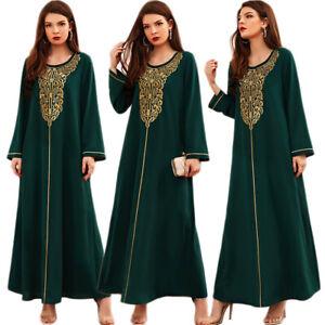 Ramadan Kaftan Abaya Muslim Women Maxi Dress Caftan Dubai Islamic Party Gown New