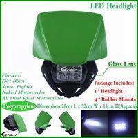 Motocross LED Headlight Head Lamp For Kawasaki KX100 KX250F KX450F Dirt BIke