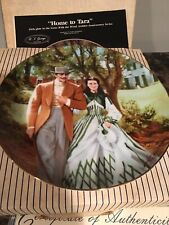 "Collectible Plate ""Home To Tara� Gone With The Wind Plate 5 - Coa"