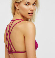 NEW Free People Intimately Dolce Strappy Bra in Fuschia Sz XS/S & M/L $39.87