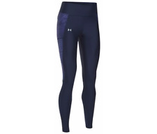 UNDER ARMOUR WOMEN'S HEATGEAR FLY BY RUNNING LEGGINGS L Large Navy NWT