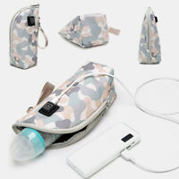 PORTABLE USB BABY BOTTLE WARMER HEATER INSULATED BAG TRAVEL CUP MILK ADJUSTABLE